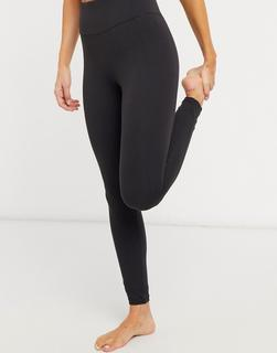 & Other Stories - Schwarze Yoga-Leggings in Schwarz, Kombiteil