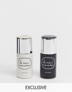 Le Mini Macaron - X ASOS EXCLUSIVE – Gel-Nagellack Zweierset, Kokosnussjoghurt + Lakritze, 20% ERSPARNIS-Mehrfarbig