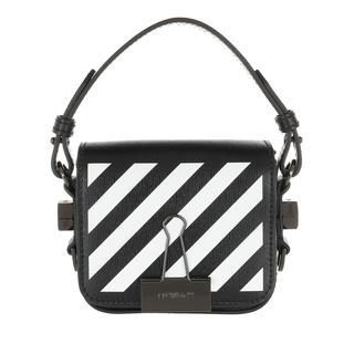 Off-White - Umhängetasche - Diag Baby Flap Crossbody Bag Black White - in schwarz - für Damen