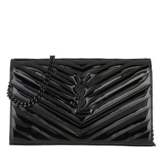 Saint Laurent - Umhängetasche - Monogramme Chain Wallet Black - in schwarz - für Damen