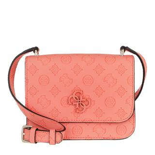 guess - Umhängetasche - Noelle Mini Flap Crossbody Bag Coral - in orange - für Damen