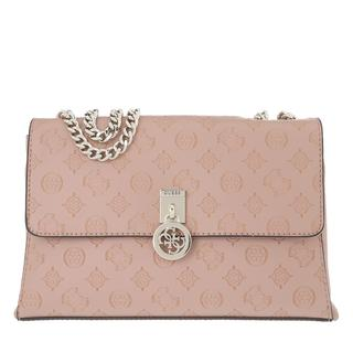 guess - Satchel Bag - Ninnette Convertible Crossbody Flap Rosewood - in rosa - für Damen