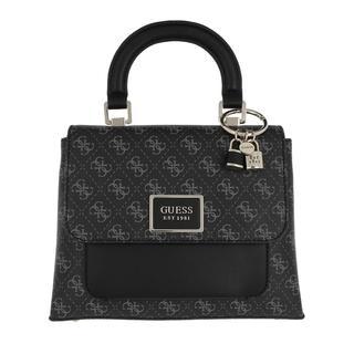 guess - Satchel Bag - Tyren Top Flap Handle Bag Coal - in grau - für Damen
