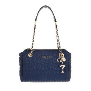guess - Satchel Bag - Brinkley Society Satchel Blue - in blau - für Damen