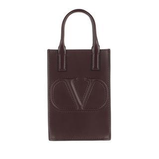 Valentino - Umhängetasche - Smartphone Crossbody Bag Leather Rubin - in rot - für Damen