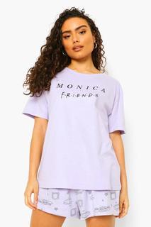 boohoo - Womens Friends License Monica Pj Short Set - Lilac - M, Lilac