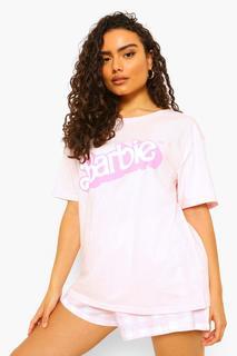 boohoo - Womens Barbie Licensed Hers Pj Short Set - Pink - Xs, Pink