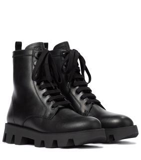 Prada - Ankle Boots aus Leder
