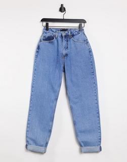 ASOS DESIGN - Hourglass – Locker geschnittene Mom-Jeans mit hohem Bund in heller Waschung-Blau