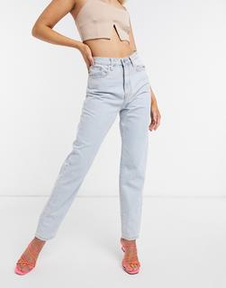 Missguided - Riot – Mom-Jeans aus recyceltem Denim mit hoher Taille in Blau