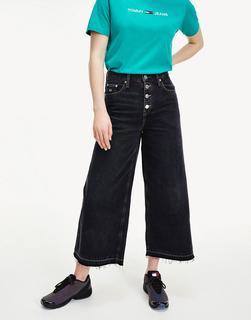 Tommy Jeans - Jeans mit mittelhohem Bund und weitem Bein in verwaschenem Schwarz
