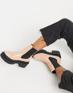 Truffle Collection - Chelsea-Stiefel mit dicker Sohle in zartem Rosa-Beige