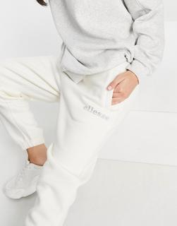 Ellesse - Jogginghose in gebrochenem Weiß mit Strasslogo – Exklusiv bei ASOS