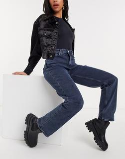 Calvin Klein Jeans - Locker geschnittene Jeans mit hohem Bund in Dunkelblau-Marineblau