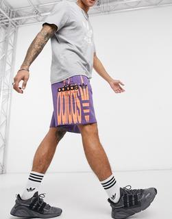 adidas Originals - RYV – Shorts in Purpur-Violett