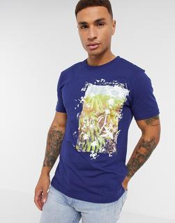 Boss - Troaar – T-Shirt mit Print-Marineblau