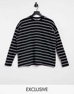 Reclaimed Vintage - Inspired – Langärmliges Shirt mit Streifen-Mehrfarbig