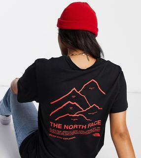 THE NORTH FACE - Peaks – Schwarzes T-Shirt, exklusiv bei ASOS