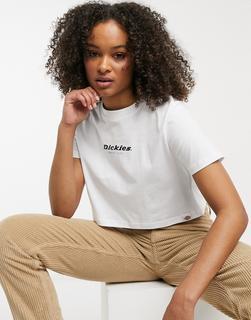 Dickies - Central 1922 – T-Shirt mit kurzem Schnitt in Weiß
