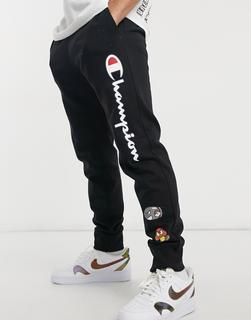 Champion - x Super Mario – Jogginghose in Schwarz