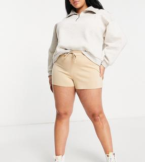 Street Collective Curve - Mix & Match –Joggingshorts mit hohem Bund in Camel-Bronze