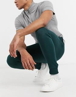 Threadbare - Basic – Schmal geschnittene Jogginghose in Tannengrün, Kombiteil