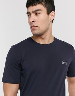 Boss - Bodywear – Marineblaues T-Shirt mit Logo