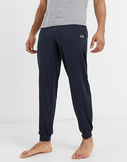 Boss - Bodywear – Jogginghose mit Logo in Marineblau