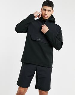 Reebok - Training – Kapuzenpullover in Schwarz