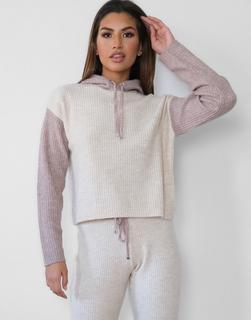 Missguided - Pullover mit Farbblockdesign in Stein, Kombiteil-Stone