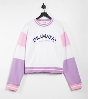 Skinnydip Curve - Sweatshirt mit Farbblock-Design und Dramatic-Print, Kombiteil-Mehrfarbig