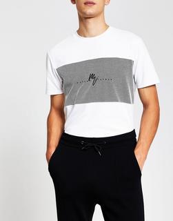 River Island - Maison – Schmales T-Shirt in Schwarz