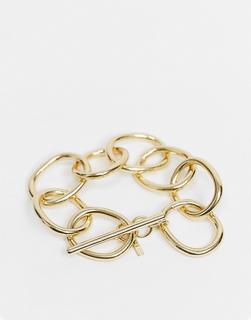 Pilgrim - Klobiges, goldfarbenes Armband