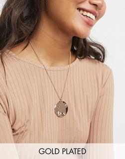 Pilgrim - Roségold beschichtete Halskette mit rustikalem Anhänger-Rosa