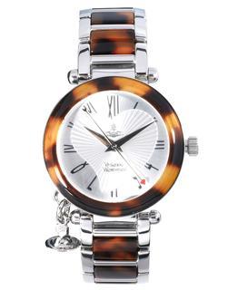 Vivienne Westwood - Silberne Armbanduhr mit Schildpattdetails-Mehrfarbig