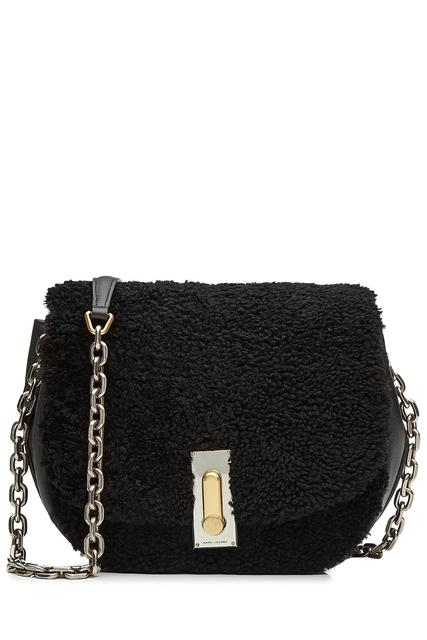 Marc Jacobs - Leather Shoulder Bag with Shearling