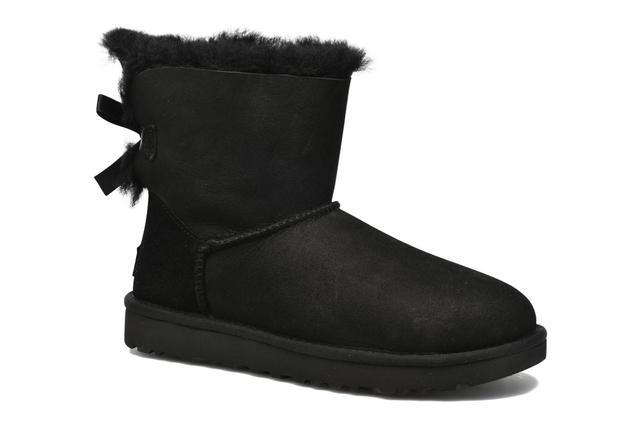 UGG - W Mini Bailey Bow II - Stiefeletten & Boots für Damen / schwarz