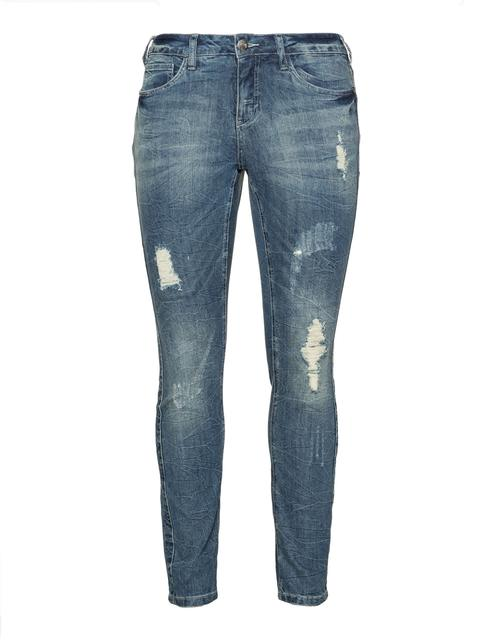 Zizzi - Plus Size Distressed Sanna slim fit jeans