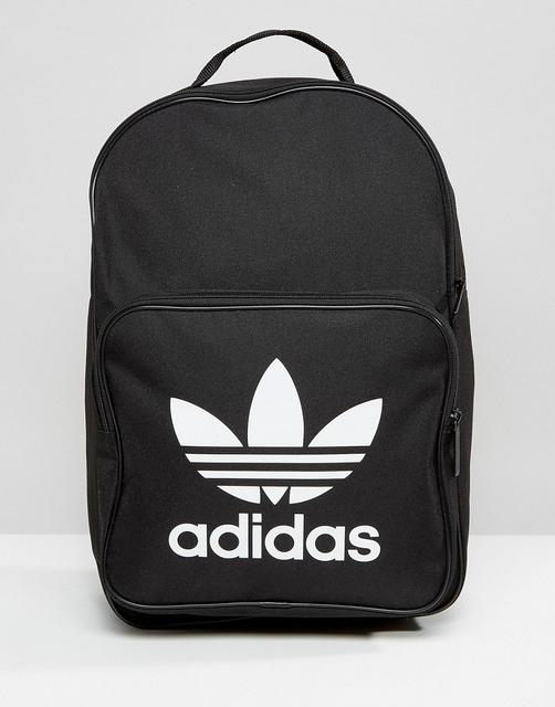 adidas Originals - trefoil logo black backpack