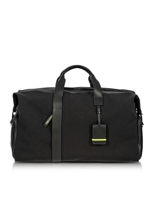 Bric's - Weekender Holdall aus Nylon und Leder in schwarz