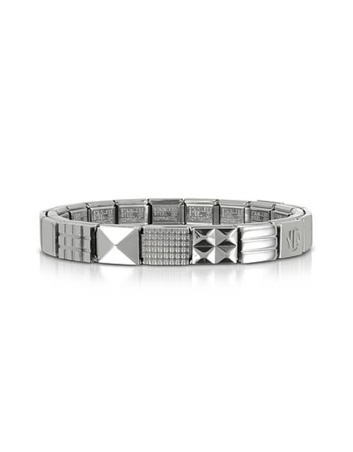 Nomination - Steel Ikons Geometric Studs Armband aus Edelstahl