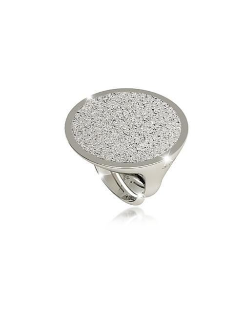 Rebecca - R-Zero Ring aus Bronze mit Rhodiumbeschichtung