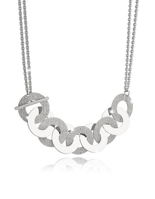 Rebecca - R-Zero Rhodium Over Bronze and Steel Maxi Chain Necklace