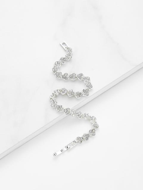 SheIn - Rhinestone Embellished Chain Bracelet