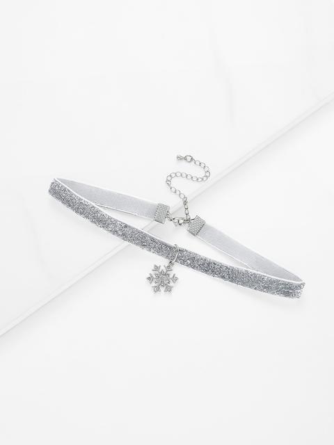 SheIn - Christmas Snowflake Detail Choker