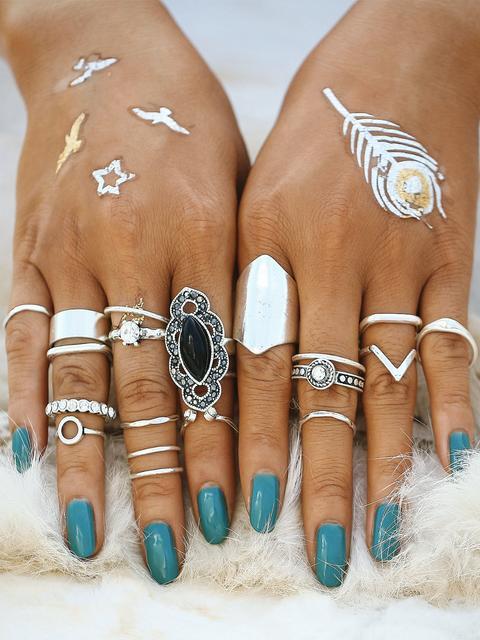SheIn - Mixed Shaped Ring Set
