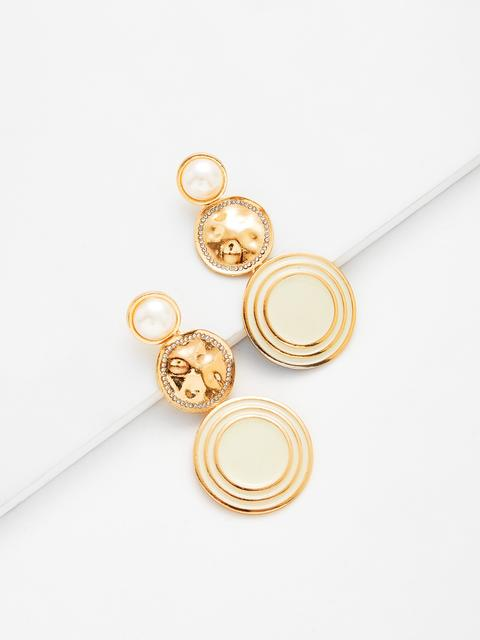 SheIn - Round Drop Earrings With Jewelry