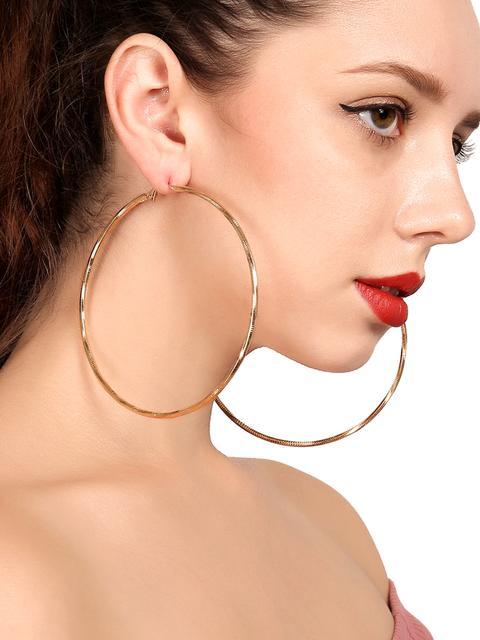 SheIn - Open Hoop Drop Earrings