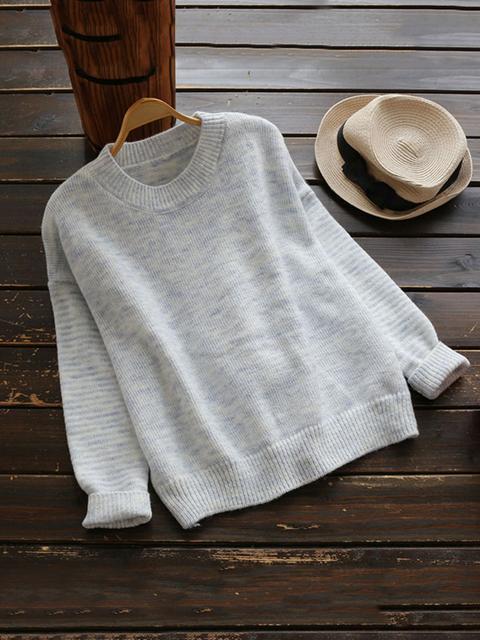 SheIn - Drop Shoulder Marled Knit Sweater