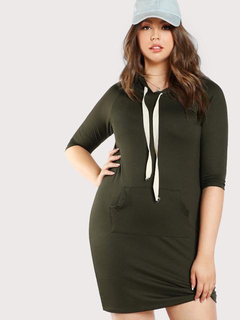 SheIn - Basic Hoodie Dress